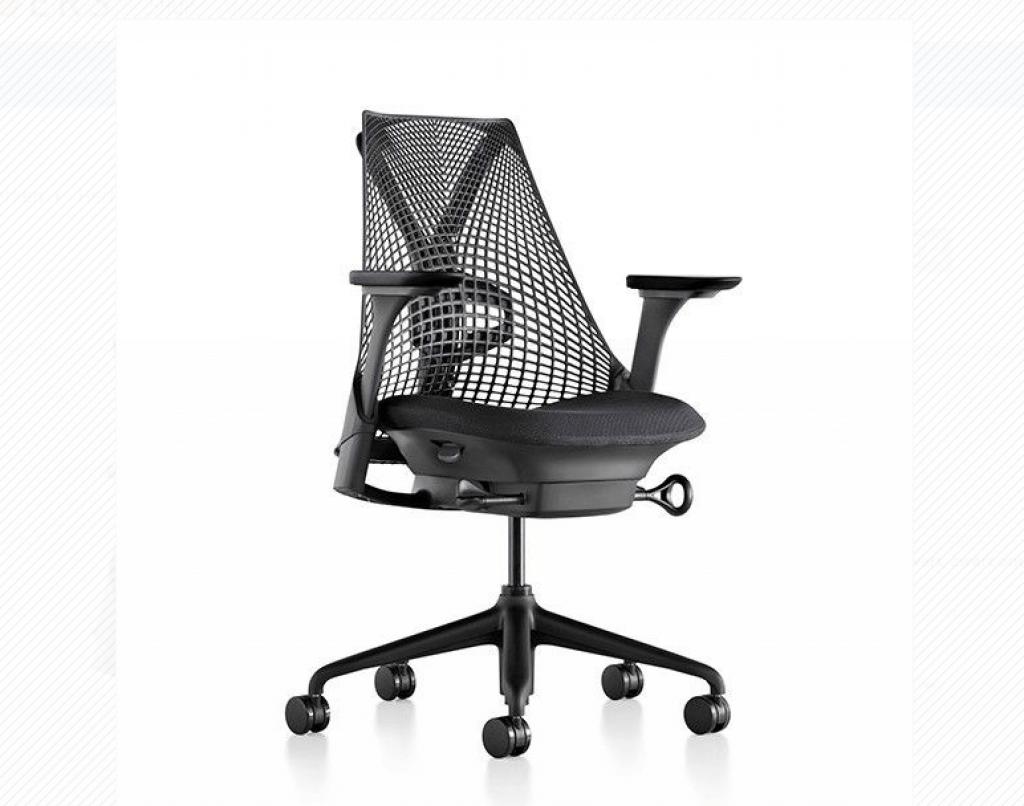 Ergonomische bureaustoel zonder wielen zitkussen xl met