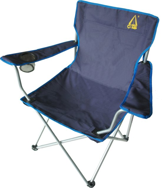 Best Camp Koala Campingstoel - Hoge Rugleuning - Blauw