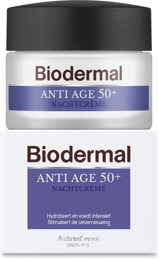 Biodermal Anti Age 50+ - Nachtcrème tegen huidveroudering - 50ml
