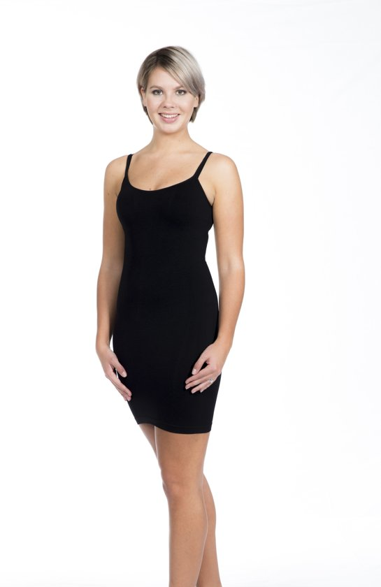 MAGIC Bodyfashion Onderjurk Seamless Bodydress - Black - S