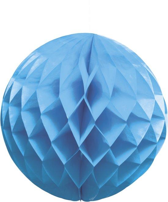 Papieren honingraatbal blauw