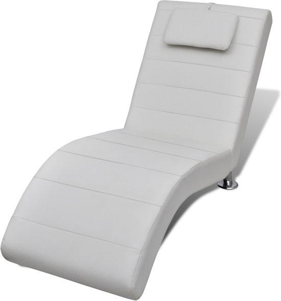 vidaXL - Chesterfield - Chaise longue - wit