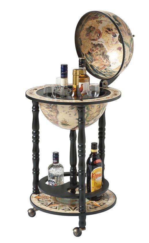 bol.com | Brulo Wereldbol Globe Globebar Vespucci Wit 33 cm