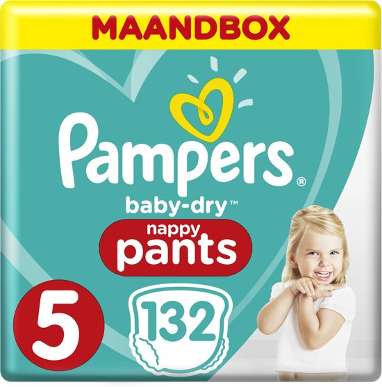 Pampers Baby-Dry Pants - Maat 5 (Junior) 12-17 kg - Maandbox 132 Stuks - Luierbroekjes