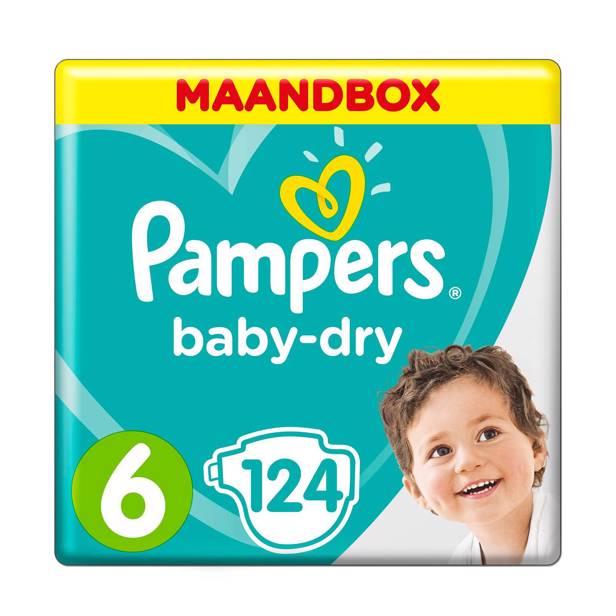 Pampers Maandbox Maat 6 (Extra Large) 15+ kg- 124 Luiers