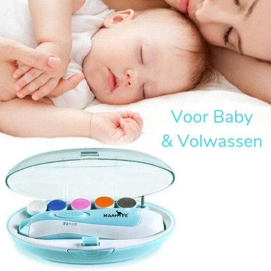 MaaHype Elektrische Baby Nagelknipper - Nageltrimmer - Manicureset - Nageltrimset | Draadloos - Baby & Volwassen – groen/blauw