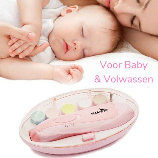 MaaHype Elektrische Baby Nagelknipper - Nageltrimmer - Manicureset - Nageltrimset | Draadloos - Baby & Volwassen – Roze