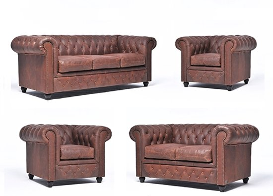 The Chesterfield Brand Vintage - 3+2+1+1 zits - Vintage Bruin