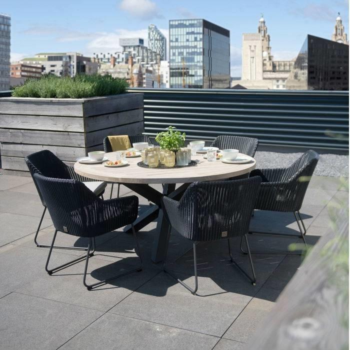 4 Seasons outdoor Avila diningset anthracite - Springbed