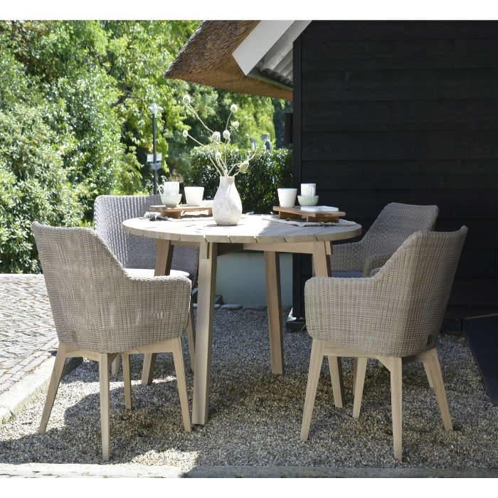 4 Seasons outdoor Avila diningset Pebble teak - Springbed