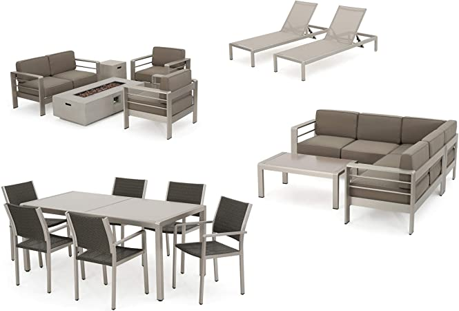 Amazon.com: Coral Bay 17-Piece Grand Patio Sectional, Lounge