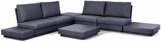 bol.com   Copenhagen hoek loungeset 8-delig antraciet aluminium