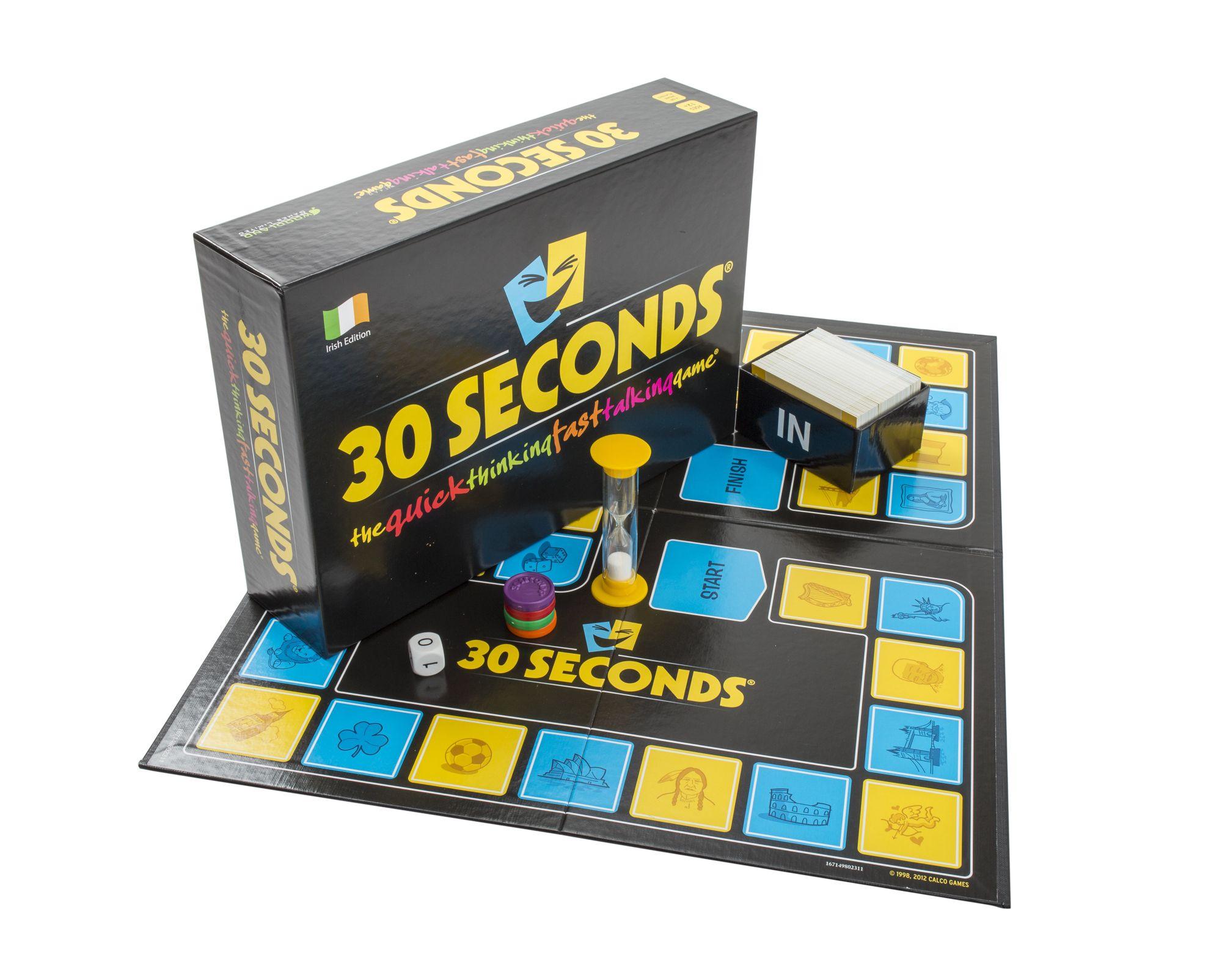30 Seconds Board Game - IRISH EDITION   Board games, Fun board