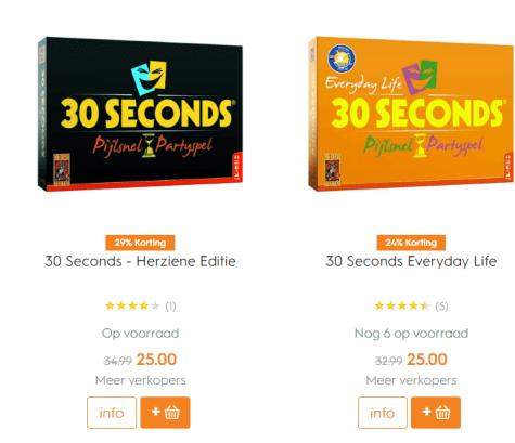 30 Seconds - Herziene Editie/ Everyday life voor €25