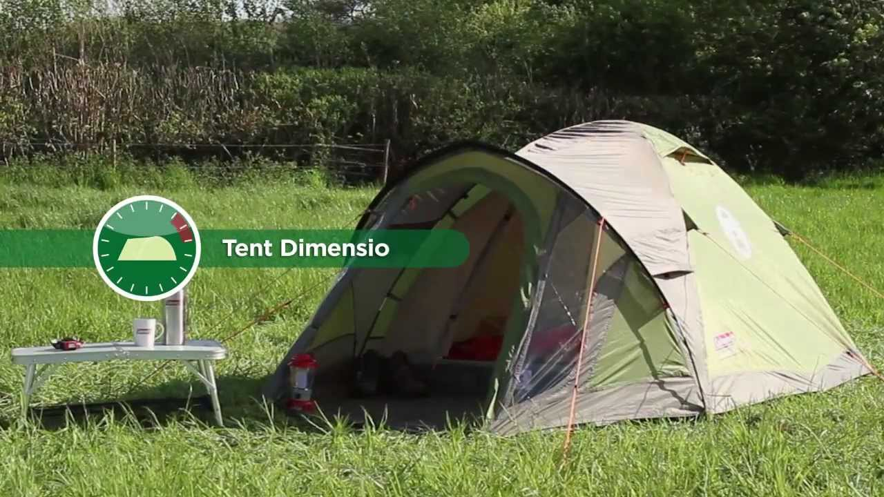 Coleman® Darwin 4 Plus - Weekend Camping Tent - YouTube