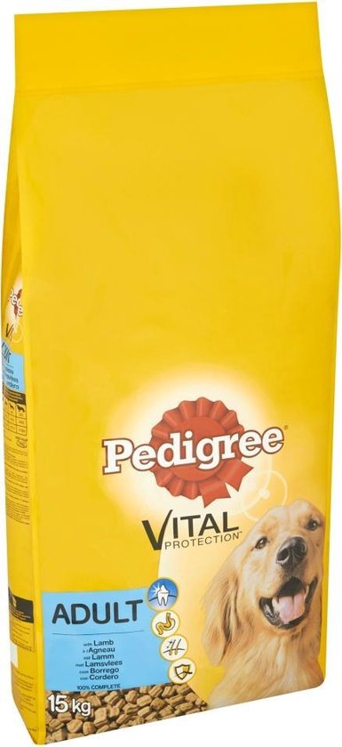 Pedigree Vital Protection Adult Brokken - Lam & Groenten - Hondenvoer - 15kg