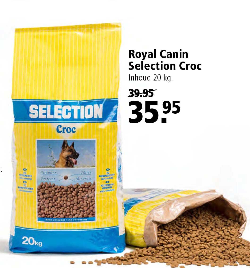 Royal Canin Selection Croc 20 Kg: €35,95 Aanbieding bij Welkoop
