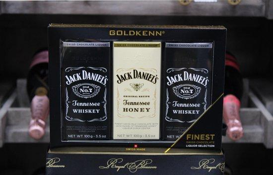 Jack Daniels gift pack likeur chocolade repen 3 x 100 gram