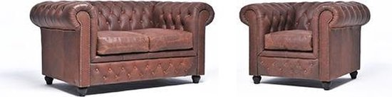 The Chesterfield Brand Vintage - 2+1 zits - Vintage Bruin