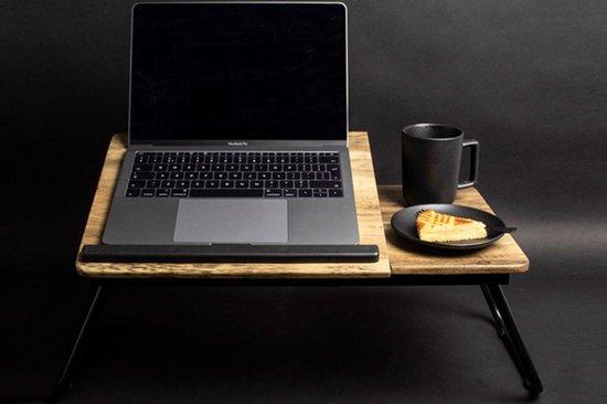 Gusta® | luxe - Laptoptafel - Laptopstandaard - Schoottafel - Bedtafel - hout