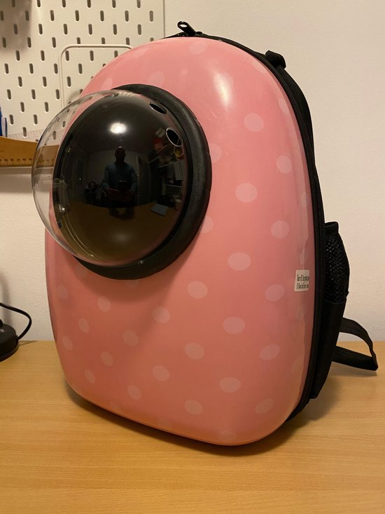 Huisdier rugtas - Roze- Backpack Pet - Kattenrugzak - Draagtas - reismand - vervoersbox