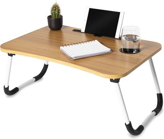 Laptoptafel - Laptopstandaard - Schoottafel - Bedtafel - MDF Hout - 60x40x28 cm