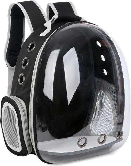 Lovely Pets - Draagtas voor katten - rugtas voor huisdieren - reismand - transporttas - vervoersbox - dieren draagtas - en (kleine) honden - Zwart