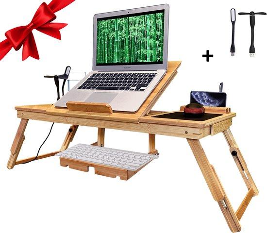 Luxergoods 2 IN 1 Bedtafel/Laptopstandaard - Nieuw Model - Cadeautip - Laptoptafel - Bank tafeltje - Laptop verhoger