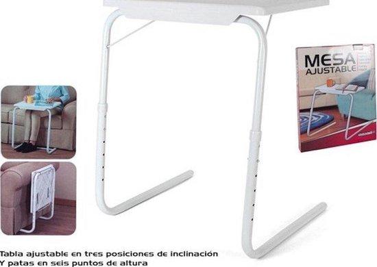 Multifunctionele inklapbare bijzettafel – 52x40x72cm – bedtafel – Laptoptafel – Inklapbaar