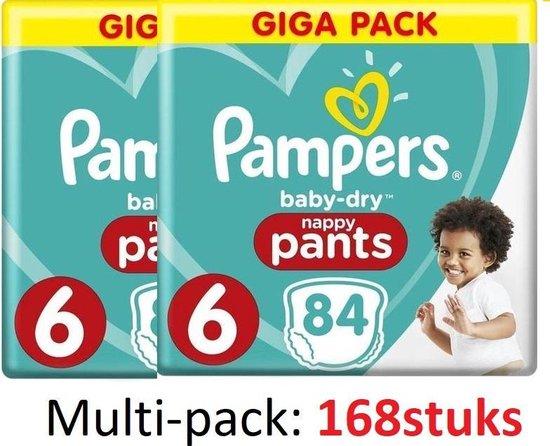Pampers Baby-Dry Pants - Maat 6 (Extra Large) 15+ kg - 168 Stuks - Luierbroekjes