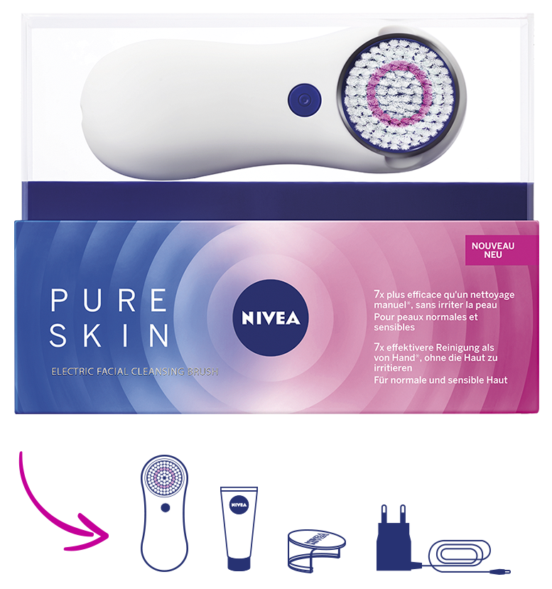 Nivea Pure Skin Electrical Cleansing Brush | CosmetoScope