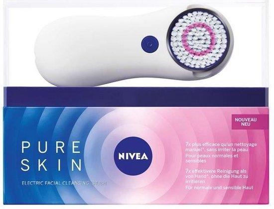 NIVEA Pure Skin Gezichtsreinigingsborstel Kit - 2 snelheden - Voor normale en gevoelige huid - 20 ml