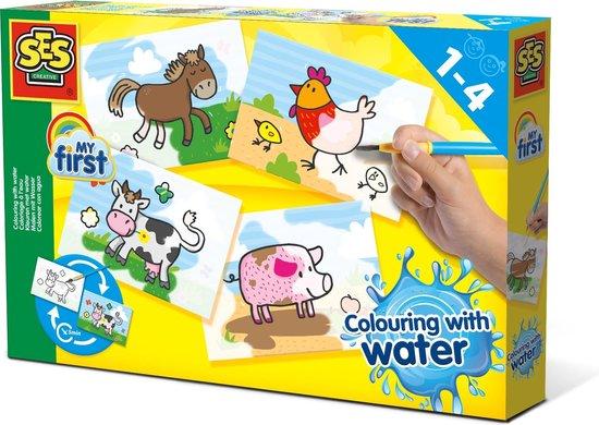 SES - Kleuren met water - Boerderij dieren