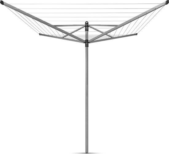 Brabantia Lift-O-Matic Droogmolen met Grondanker - 40 m - Metallic Grey