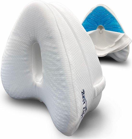 Orthopedisch Kniekussen Voor in Bed – Leg Pillow – Beenkussen – Zijslaapkussen – Slaapkussen Tussen Benen – Koelgel – Incl. E-BOOK