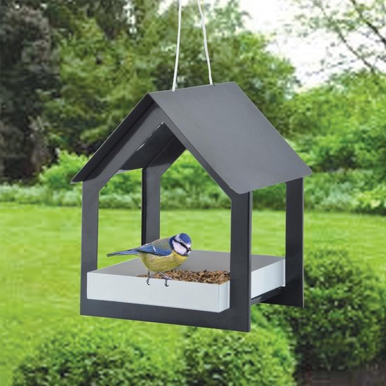 Esschert Design Vogelvoederplek Hangend - Zwart - 19 x 19 x 23 cm
