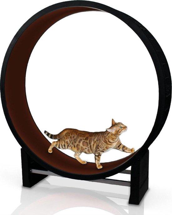Kat in beweging. Loopwiel voor katten - CanadianCat Company   bruin