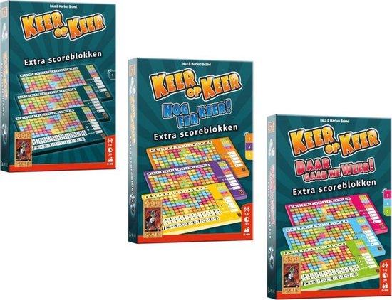 Keer op Keer Scoreblokken set - 1 - 2 3 4 - 5 6 7