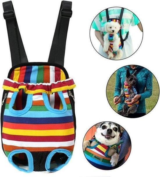 Ariko honden draagzak - rugzak - draagtas - hondenrugzak - hondendraagzak - ook voor uw kat - regenboog - XL