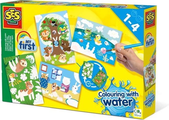 SES - Kleuren met water - Verborgen dieren