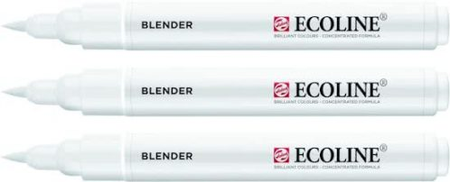 3x Ecoline Brush Pen blender