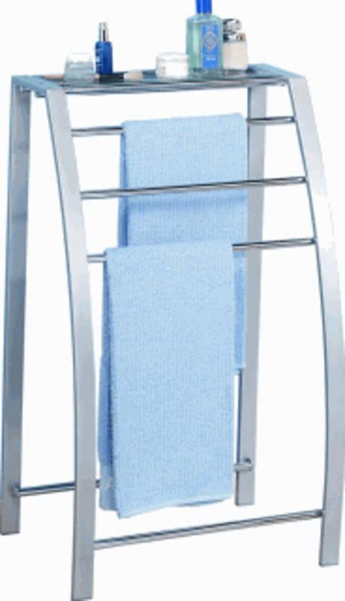 Staand Handdoekenrek Chroom.Handdoekrek Badkamer Staand Uitschuifbaar En Voor De