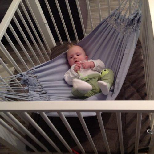 Baby hangmat Boys&Girls blauw