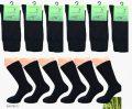 Bamboe sokken 6 paar ( zwart ) 43-46