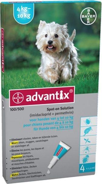 Bayer Advantix Spot On - 100/500 4-10 KG - 4 PIP