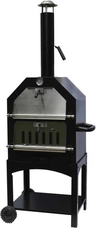 BBGrill Lorenzo Pizzaoven en Houtskool Smokerbarbecue - 45x65x158 cm