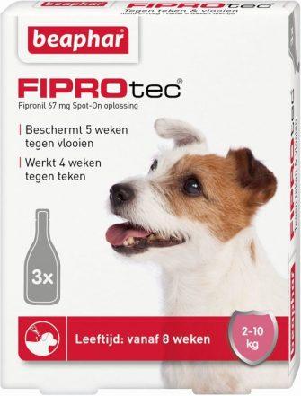 Beaphar Fiprodog tegen teken en vlooien - 2-10 kg - 3 pipet