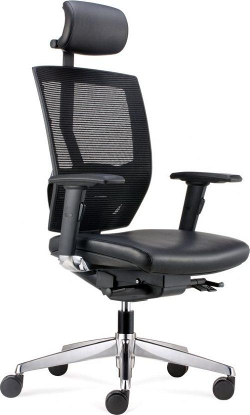 BenS 807HCL Onze meest luxe ergonomische bureaustoel met lederen bekleding en hoofdsteun