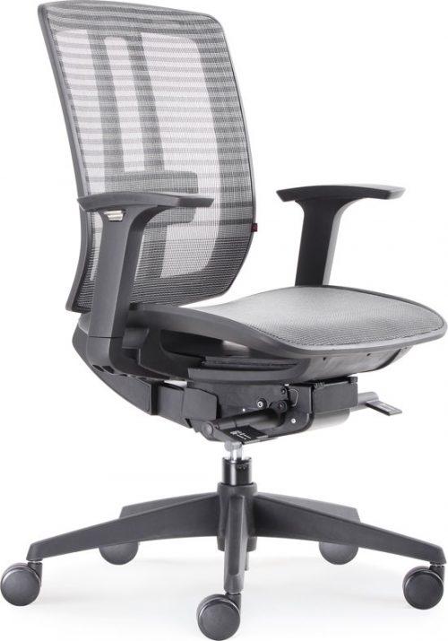 """BenS 816D Lux topmodel bureaustoel met """"zwevende"""" zitting Zwart"""