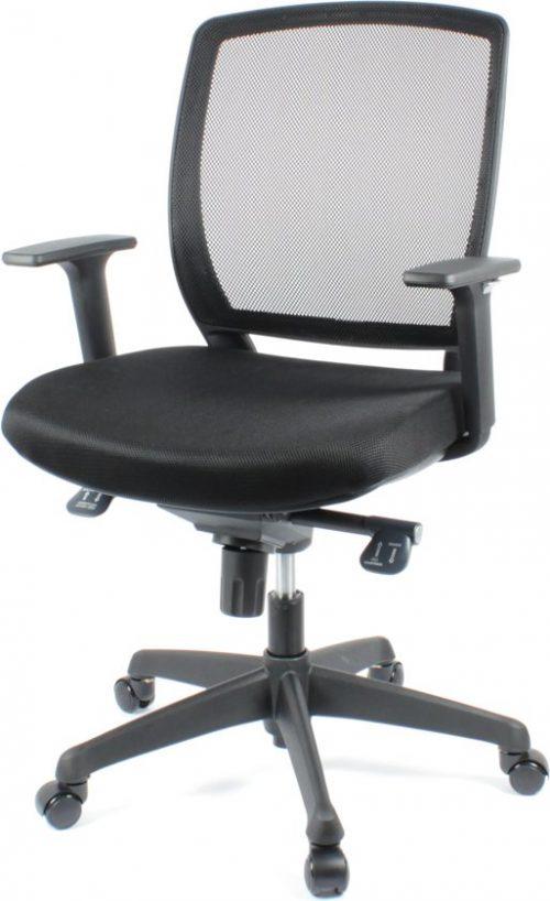 BenS 820D Ergonomische bureaustoel met een Donatie mechaniek Zwart